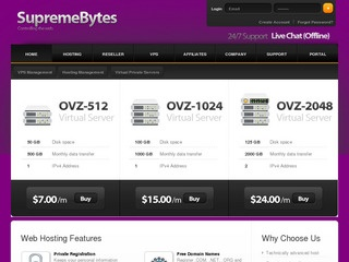 SupremeBytes – $4/Month 256MB OpenVZ in France