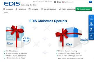 EDIS Christmas Offer – 128MB €22.69/Year KVM & 256MB €3.79/Month KVM located in 12 different countries