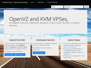 CrownCloud – $7/Month 1024MB KVM VPS in Frankfurt, Germany