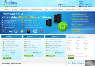 CybexHosting – $6/ Month 1024MB OpenVZ VPS in Germany.