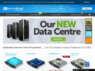 PoundHost – £10.99 2GB 250GB AtomCore Dedicated Server in Reading, UK